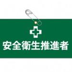 ビニールレザー製腕章(安全衛生推進者)